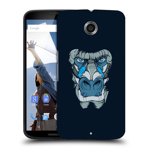 Snoogg Abstract Monkey Face Designer Protective Back Case Cover For Motorola Nexus 6