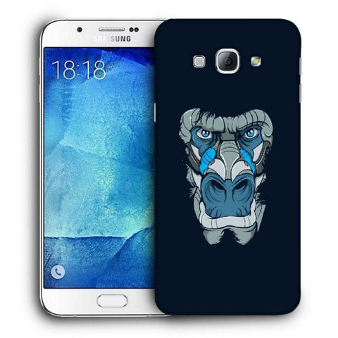 Snoogg Abstract Monkey Face Designer Protective Back Case Cover For Samsung Galaxy A8