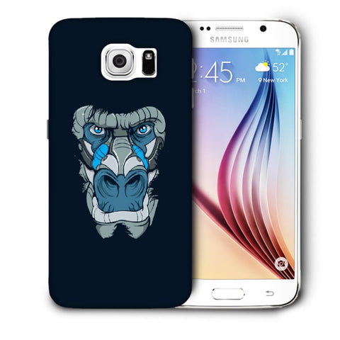Snoogg Abstract Monkey Face Designer Protective Back Case Cover For Samsung Galaxy S6