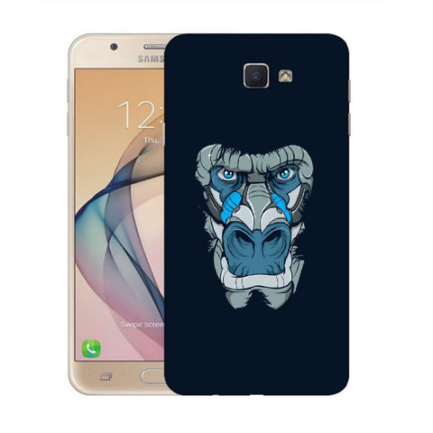 Snoogg Abstract Monkey Face Designer Protective Back Case Cover For Samsung Galaxy On Nxt / J7 Prime