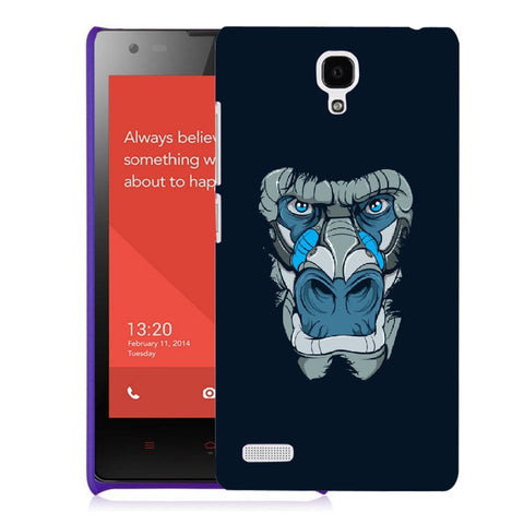 Snoogg Abstract Monkey Face Designer Protective Back Case Cover For Xiaomi Redmi Note 2