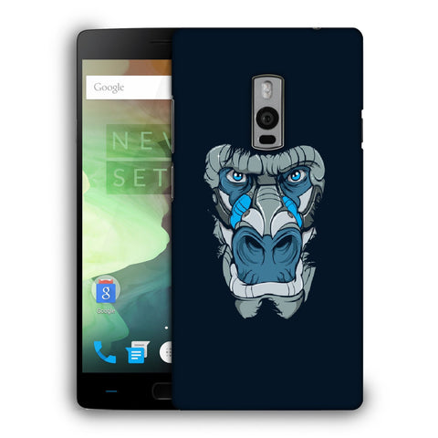 Snoogg Abstract Monkey Face Designer Protective Back Case Cover For OnePlus Two