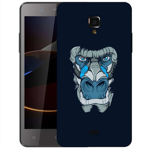 Snoogg Abstract Monkey Face Designer Protective Back Case Cover For Swipe Elite 2 Plus