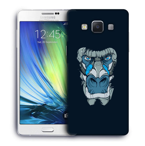 Snoogg Abstract Monkey Face Designer Protective Back Case Cover For Samsung Galaxy A7