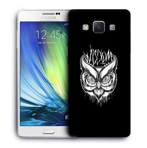 Snoogg Abstract Owl Face Designer Protective Back Case Cover For Samsung Galaxy A7