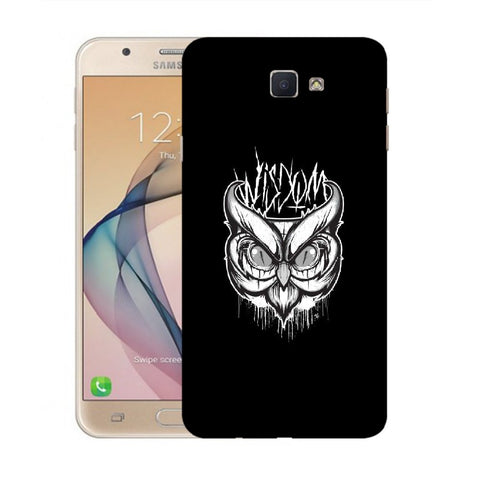 Snoogg Abstract Owl Face Designer Protective Back Case Cover For Samsung Galaxy On Nxt / J7 Prime