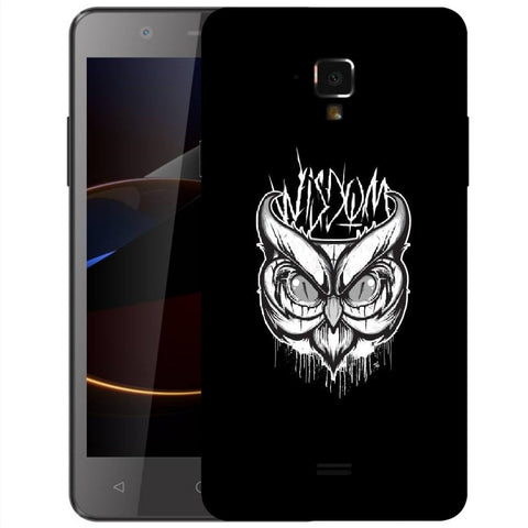 Snoogg Abstract Owl Face Designer Protective Back Case Cover For Swipe Elite 2 Plus