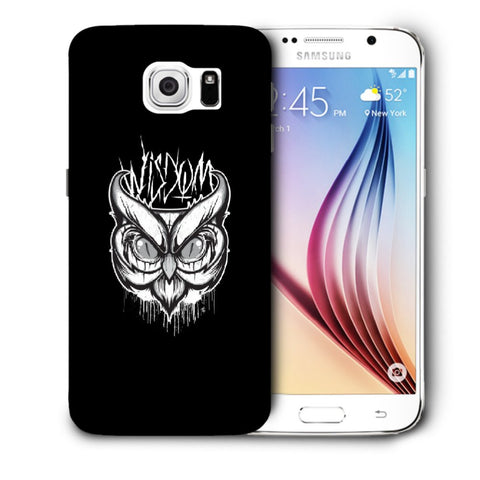 Snoogg Abstract Owl Face Designer Protective Back Case Cover For Samsung Galaxy S6