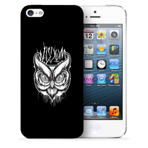 Snoogg Abstract Owl Face Designer Protective Back Case Cover For Apple Iphone SE
