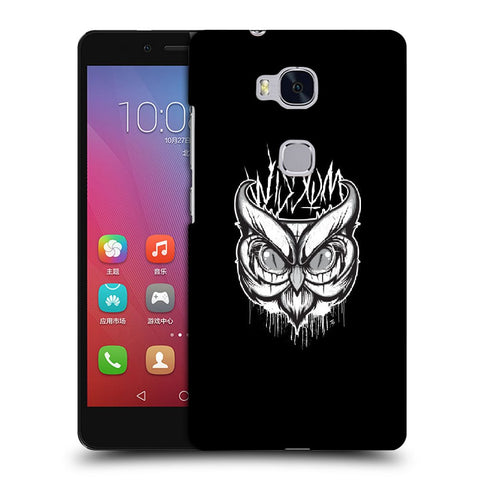 Snoogg Abstract Owl Face Designer Protective Back Case Cover For Huawei Honor 5X