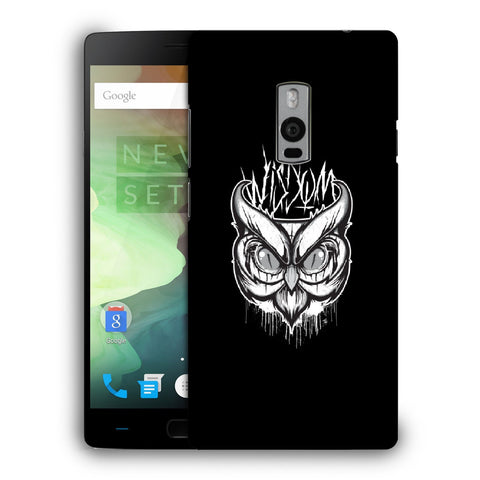 Snoogg Abstract Owl Face Designer Protective Back Case Cover For OnePlus Two