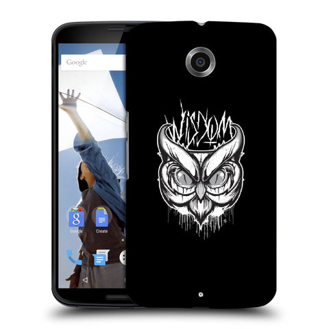 Snoogg Abstract Owl Face Designer Protective Back Case Cover For Motorola Nexus 6