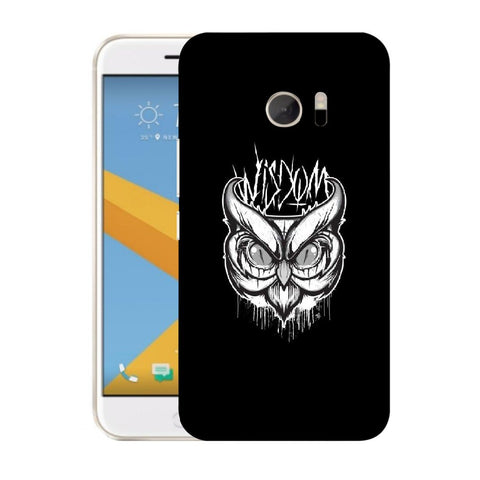 Snoogg Abstract Owl Face Designer Protective Back Case Cover For HTC Desire 10 Lifestyle