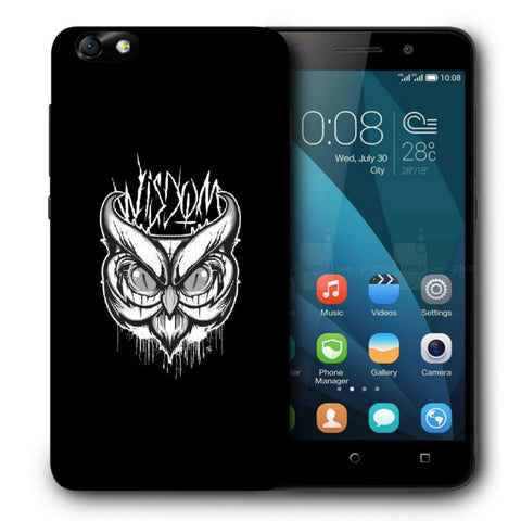 Snoogg Abstract Owl Face Designer Protective Back Case Cover For Huawei Honor 4X
