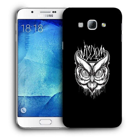 Snoogg Abstract Owl Face Designer Protective Back Case Cover For Samsung Galaxy A8