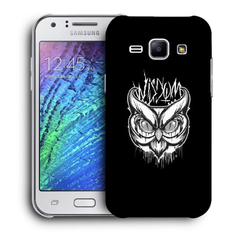 Snoogg Abstract Owl Face Designer Protective Back Case Cover For Samsung Galaxy J1