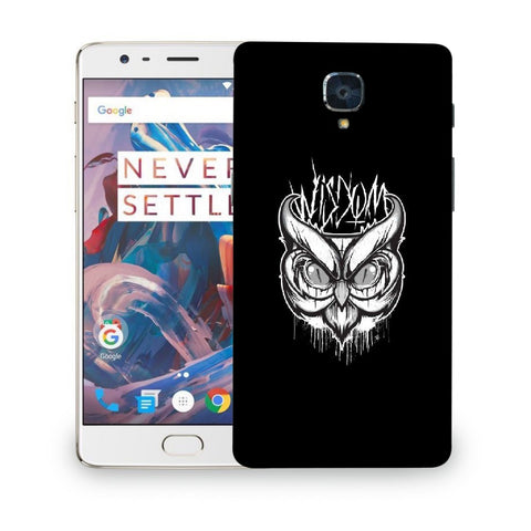Snoogg Abstract Owl Face Designer Protective Back Case Cover For ONEPLUS 3T