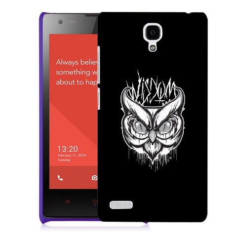Snoogg Abstract Owl Face Designer Protective Back Case Cover For Xiaomi Redmi Note 2