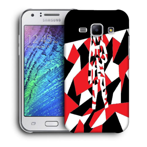 Snoogg Abstract Man Designer Protective Back Case Cover For Samsung Galaxy J1