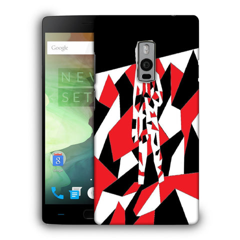 Snoogg Abstract Man Designer Protective Back Case Cover For OnePlus Two