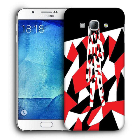 Snoogg Abstract Man Designer Protective Back Case Cover For Samsung Galaxy A8