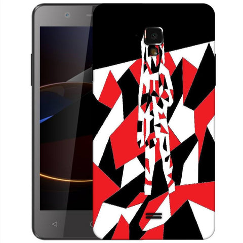 Snoogg Abstract Man Designer Protective Back Case Cover For Swipe Elite 2 Plus