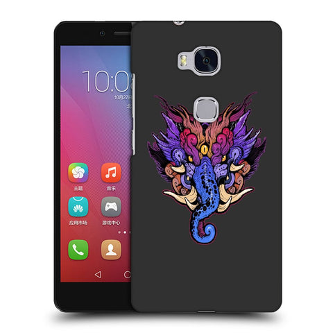 Snoogg Abstract Elephant Face Designer Protective Back Case Cover For Huawei Honor 5X