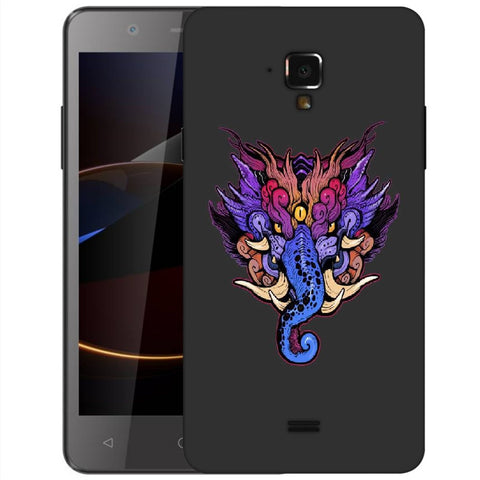 Snoogg Abstract Elephant Face Designer Protective Back Case Cover For Swipe Elite 2 Plus