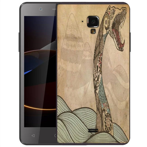 Snoogg Abstract Snake With Big Teeth Designer Protective Back Case Cover For Swipe Elite 2 Plus