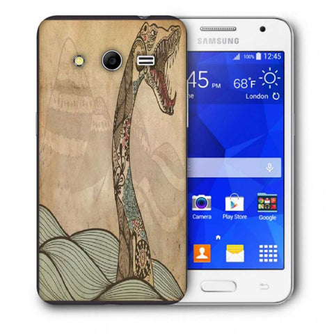 Snoogg Abstract Snake With Big Teeth Designer Protective Back Case Cover For Samsung Galaxy Core 2