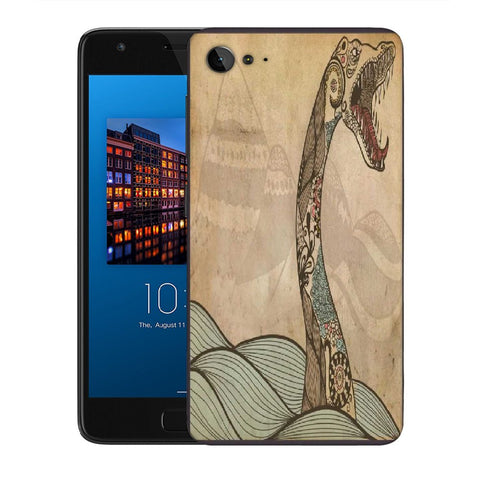 Snoogg Abstract Snake With Big Teeth Designer Protective Back Case Cover For Lenovo Zuk Z2