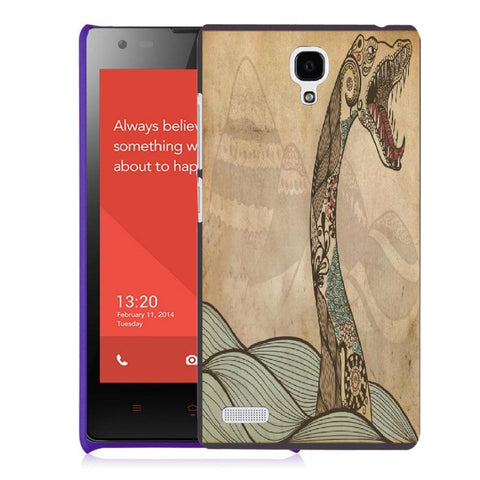 Snoogg Abstract Snake With Big Teeth Designer Protective Back Case Cover For Xiaomi Redmi Note 2