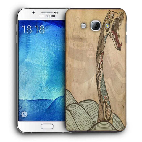 Snoogg Abstract Snake With Big Teeth Designer Protective Back Case Cover For Samsung Galaxy A8