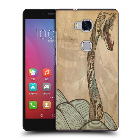 Snoogg Abstract Snake With Big Teeth Designer Protective Back Case Cover For Huawei Honor 5X