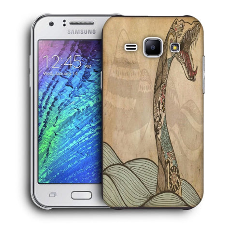 Snoogg Abstract Snake With Big Teeth Designer Protective Back Case Cover For Samsung Galaxy J1