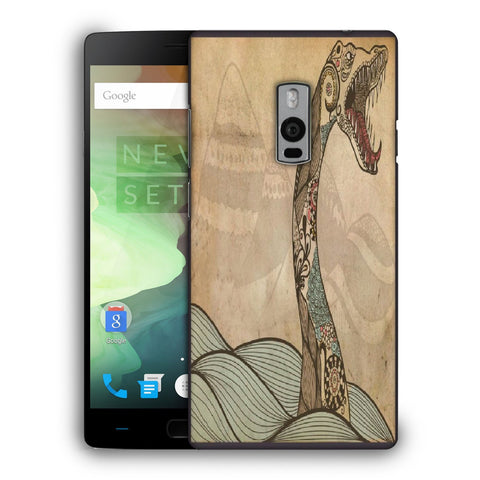 Snoogg Abstract Snake With Big Teeth Designer Protective Back Case Cover For OnePlus Two