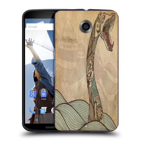 Snoogg Abstract Snake With Big Teeth Designer Protective Back Case Cover For Motorola Nexus 6
