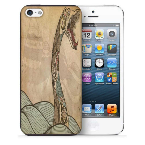 Snoogg Abstract Snake With Big Teeth Designer Protective Back Case Cover For Apple Iphone SE