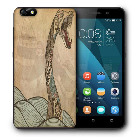 Snoogg Abstract Snake With Big Teeth Designer Protective Back Case Cover For Huawei Honor 4X