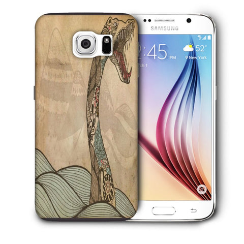 Snoogg Abstract Snake With Big Teeth Designer Protective Back Case Cover For Samsung Galaxy S6