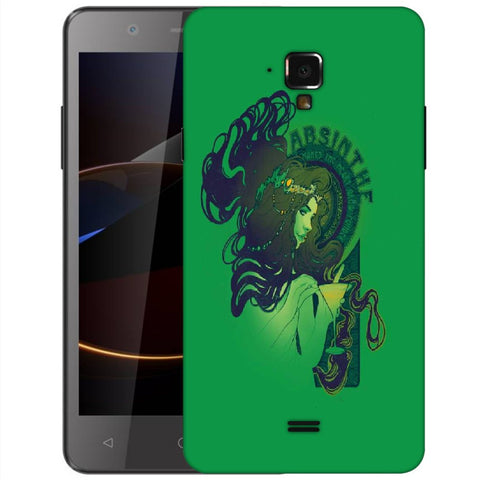 Snoogg Absinthe Girl Designer Protective Back Case Cover For Swipe Elite 2 Plus