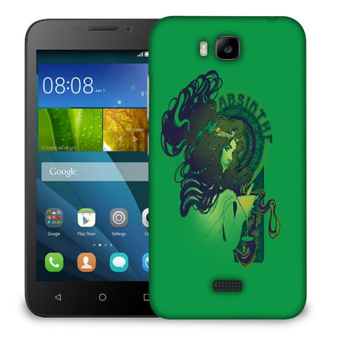 Snoogg Absinthe Girl Designer Protective Back Case Cover For Huawei Honor Bee