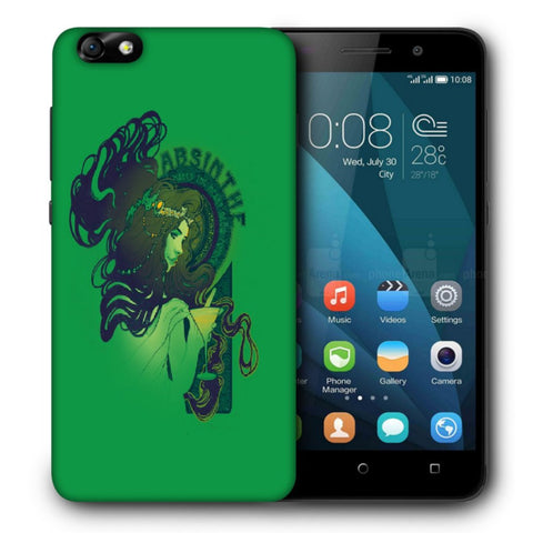 Snoogg Absinthe Girl Designer Protective Back Case Cover For Huawei Honor 4X