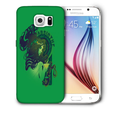 Snoogg Absinthe Girl Designer Protective Back Case Cover For Samsung Galaxy S6