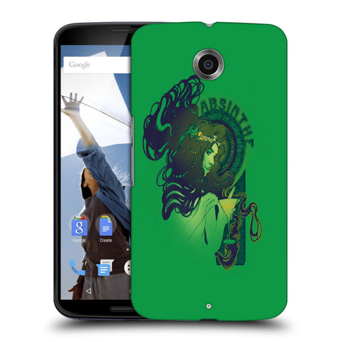 Snoogg Absinthe Girl Designer Protective Back Case Cover For Motorola Nexus 6