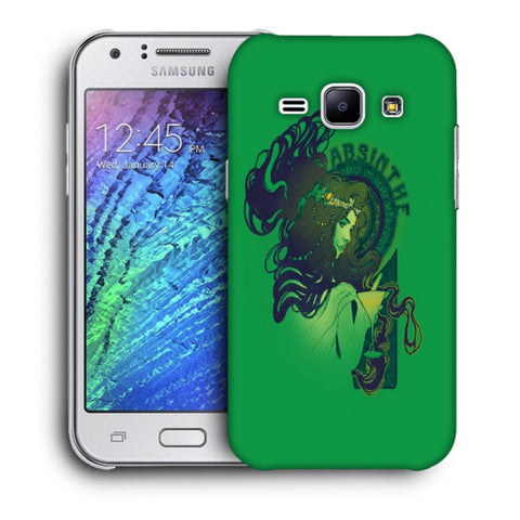 Snoogg Absinthe Girl Designer Protective Back Case Cover For Samsung Galaxy J1