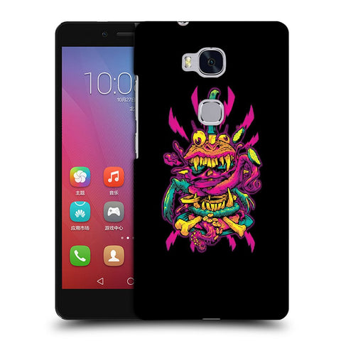 Snoogg Abstract Pink Monster Designer Protective Back Case Cover For Huawei Honor 5X