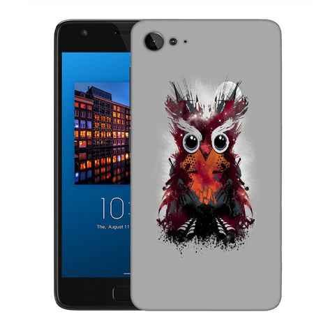 Snoogg Abstract Red Owl Designer Protective Back Case Cover For Lenovo Zuk Z2
