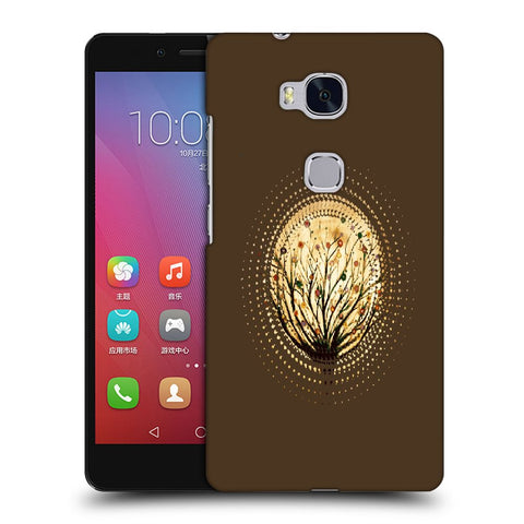 Snoogg Abstract Small Plant Designer Protective Back Case Cover For Huawei Honor 5X