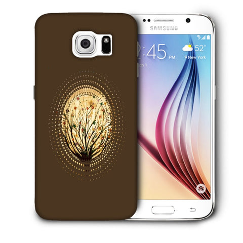 Snoogg Abstract Small Plant Designer Protective Back Case Cover For Samsung Galaxy S6